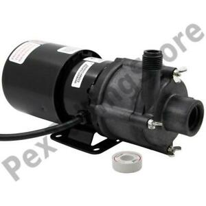 3 md hc Magnetic Drive Pump For Highly Corrosive 1 12 Hp 115v