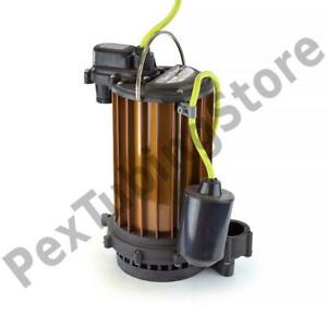 Automatic High Temperature Sump Pump W Float Switch 10 Cord 1 2 Hp 115v
