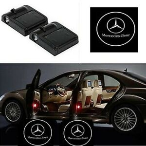2pcs Led Car Door Courtesy Projector Laser Ghost Shadow Light For Mercedes Benz