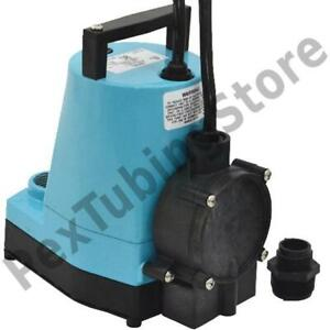 Automatic Utility sump Pump W Diaphragm Switch And 10 Cord 1 6 Hp 115v