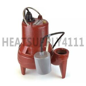 Automatic Sewage Pump W Wide Angle Float Switch 10 Cord 1 2 Hp 208 230v