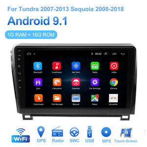 For Toyota Sequoia Tundra 10 Android 9 1 Car Stereo Radio Gps Navigation Cam