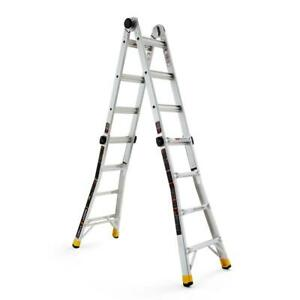 Gorilla Ladders 18 Ft Reach Mpxa Aluminum Multi position Ladder With 300 Lbs