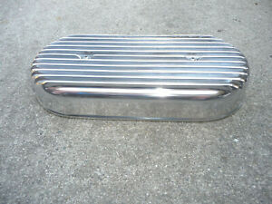 Nos Finned Cast Aluminum 15 Oval Air Cleaner Assembly