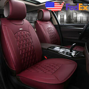 Us Car 5 Seat Leather Seat Covers Front Rear For Toyota Camry Corolla Rav4