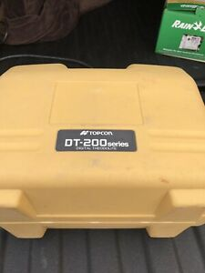 Topcon Dt 209 Optical Digital Theodolite With Carrying Case Dt 200 Must See