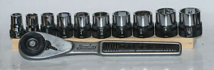 Vintage Craftsman Stainless 1 2 Ratchet And Complete Socket Set Made In Usa