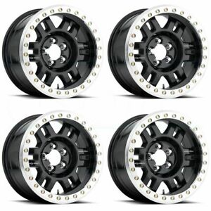 18x9 Vision 398 Manx 6x5 5 6x139 7 0 Black Machined Lip Wheels Rims Set 4