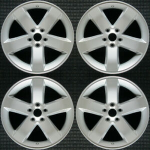 Dodge Charger All Silver 18 Oem Wheel Set 2005 To 2010