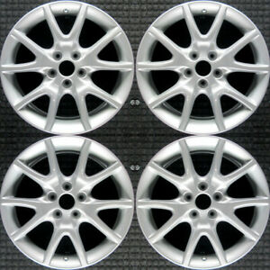 Dodge Dart All Silver 17 Oem Wheel Set 2013 To 2017
