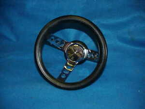 Custom Small 3 Spoke Steering Wheel Vintage Van Gasser Rat Hot Rod Low Rider