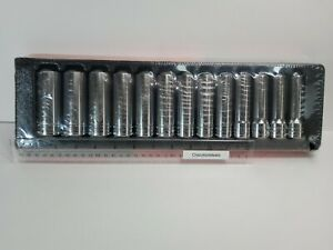 Snap On Tools 13 Pc Metric 12 Point Deep Socket Set With Tray 313smya 12mm 24mm