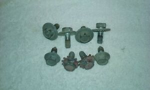 1960 61 62 63 Chevy Gmc Truck Hood Latch Receiver Bolt Set Used Oem 1964 65 66