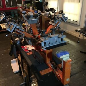 Screen Printing Equipment 4 Color Hat Press W Micro Registration A
