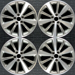 Lincoln Mks Machined W Charcoal Pockets 19 Oem Wheel Set 2009 To 2012