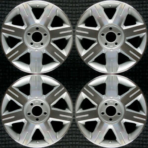 Cadillac Dts Machined W Silver Pockets 17 Oem Wheel Set 2006 To 2007