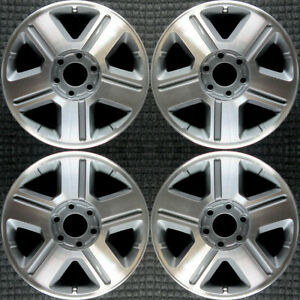 Chevrolet Trailblazer Machined 17 Oem Wheel Set 2004 To 2009