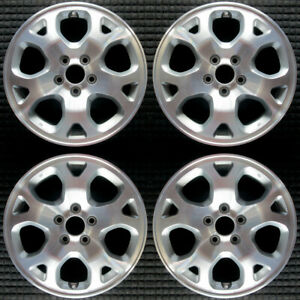 Acura Mdx Machined W Silver Pockets 17 Oem Wheel Set 2001 To 2002