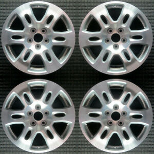 Acura Mdx Machined W Silver Pockets 18 Oem Wheel Set 2007 To 2009