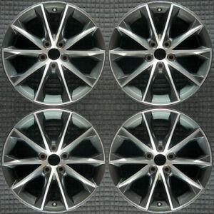 Toyota Camry Machined W Charcoal Pockets 18 Oem Wheel Set 2015 To 2017