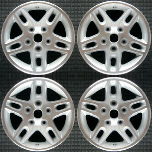 Jeep Grand Cherokee Machined W Silver Pockets 16 Oem Wheel Set 2002 To 2004