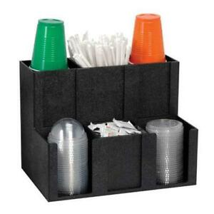 Dispense rite Mcd 6bt Six Section Cup Lid Condiment And Straw Organizer
