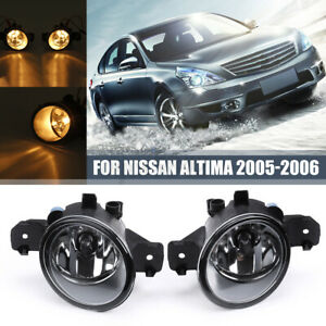 For Nissan Altima 2005 2006 Pair Fog Light Bumper Kit Clear Lens With H11 Bulb