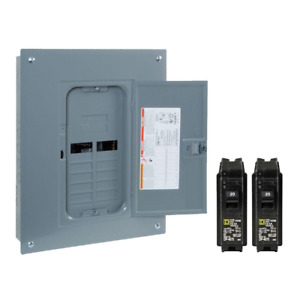 Square D 125 amp 24 circuit 12 space Electric Main Breaker Load Center Panel Box