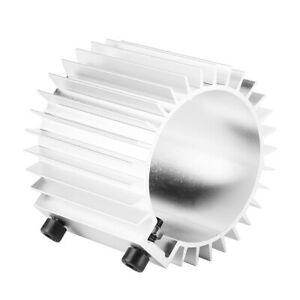 Car Engine Oil Filter Cooler Heat Sink Cover Cap Aluminum Alloy Kit Silver Di