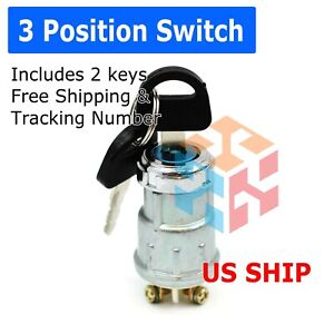 Universal Ignition Key Starter Switch With 2 Keys For Car Tractor Trailer Boat