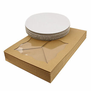 Spec101 Square Cake Boxes With Window 10pk Kraft Brown Cake Boxes 10x10x5in