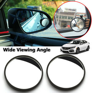For Honda 2pcs Round Rearview Blind Spot Mirror Wider Angle Hd 360 Convex Glass