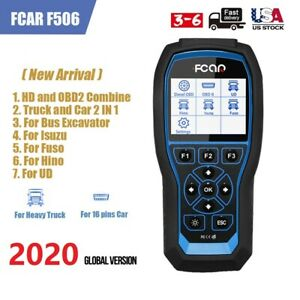 Heavy Duty Diesel Truck Abs Srs Immo Tpms Obd2 Scanner Diagnostic Tool Fcar F506