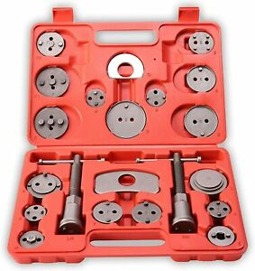 Brake Caliper Piston Wind Back Tool Kit Universal 21pc Disc Rewind Auto Tool Set