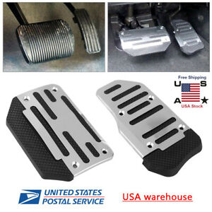 2pcs Universal Non Slip Automatic Gas Brake Foot Pedal Pad Cover Accessories Kit