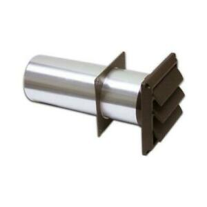 Lambro Dryer Vent With Tail Piece amp Sleeve Louver Brown Plastic 4 in