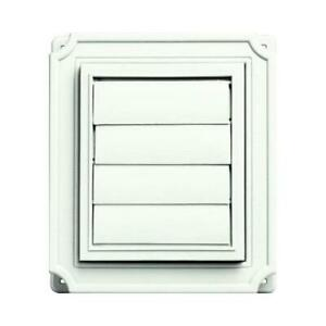Scalloped Exhaust Vent White