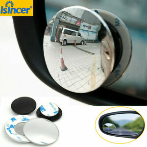 2pcs 360 Degree Wide Angle Round Convex Blind Spot Mirror For Parking Rear View