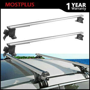 Universal 48 Roof Rack Cross Bar For Suv W 4 Kinds Clamp Cargo Carrier