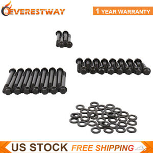 Black Cylinder Head Bolts Kit For Small Block Hex Head Chevrolet Sbc 350 383 400