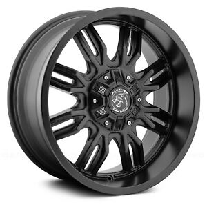 18 Inch 6x135 139 7 4 Wheels Rims Panther Off Road 580 18x9 0 Gloss Black