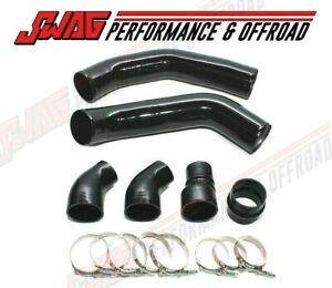 Stainless Steel Hd Black Intercooler Pipes For 13 18 Ram 6 7 6 7l Cummins Diesel