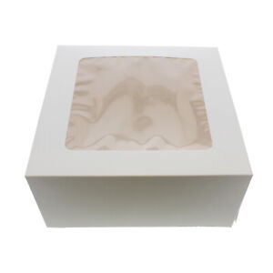 Spec101 Cake Boxes With Window 15 pack 10 X 10 X 5 Inch White Bakery Boxes