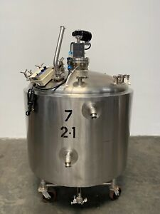 Walker 750 Liter Jacketed Stainless Steel Mixing Tank W Motor Controller
