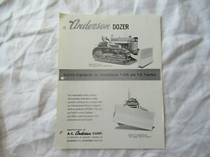 Anderson Dozer Specification Sheet Brochure For International T 340 T 5 Tractor
