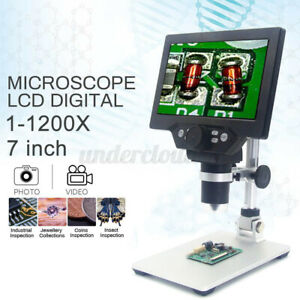 Mustool G1200 12mp 7 Hd Digital Video Microscope 1 1200x Zoom Led Magnifier