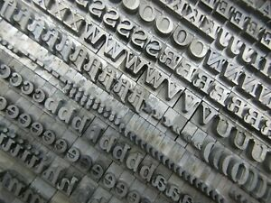 Letterpress Lead Type 30 Pt Fortune Bold Italic Bauer Type Foundry B24