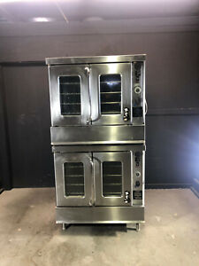 Montague 2 115a Bakery Depth Double Stack Convection Oven 115 000 Btu Per Stack