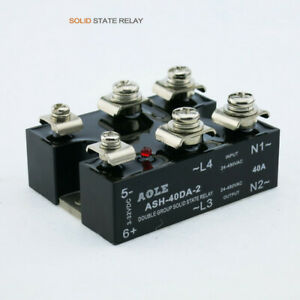 3 32vdc Two phase Normally Open Horizontal Solid State Relay Ash 40da 2 Dc ac