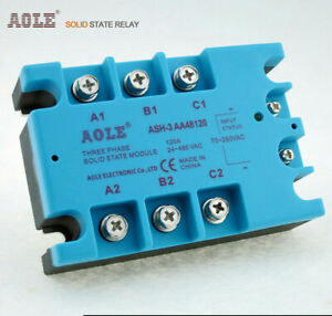 Sr 3 Three phase Solid State Relay 120a Ac ac Ash 3 Aa48120 No Contact